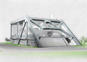 Un rendering del ponte