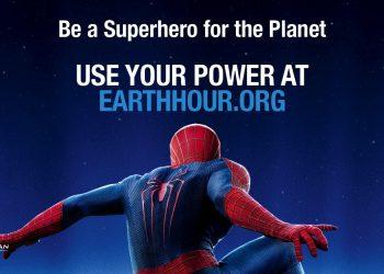 Earth Hour 2014, la locandina della campagna con Spiderman