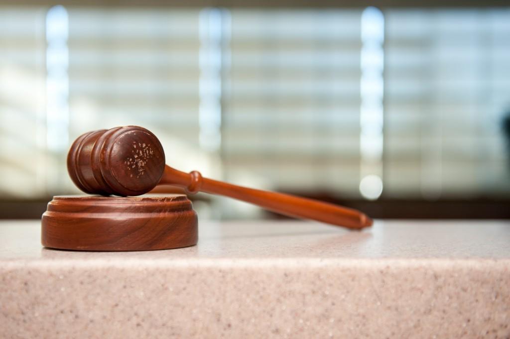 Il martelletto di un giudice