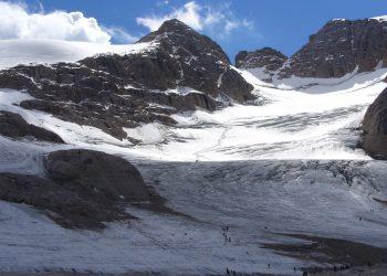 La Marmolada, un ghiacciaio alpino