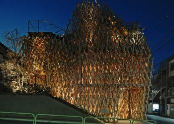 L'edificio dell'architetto Kengo Kuma