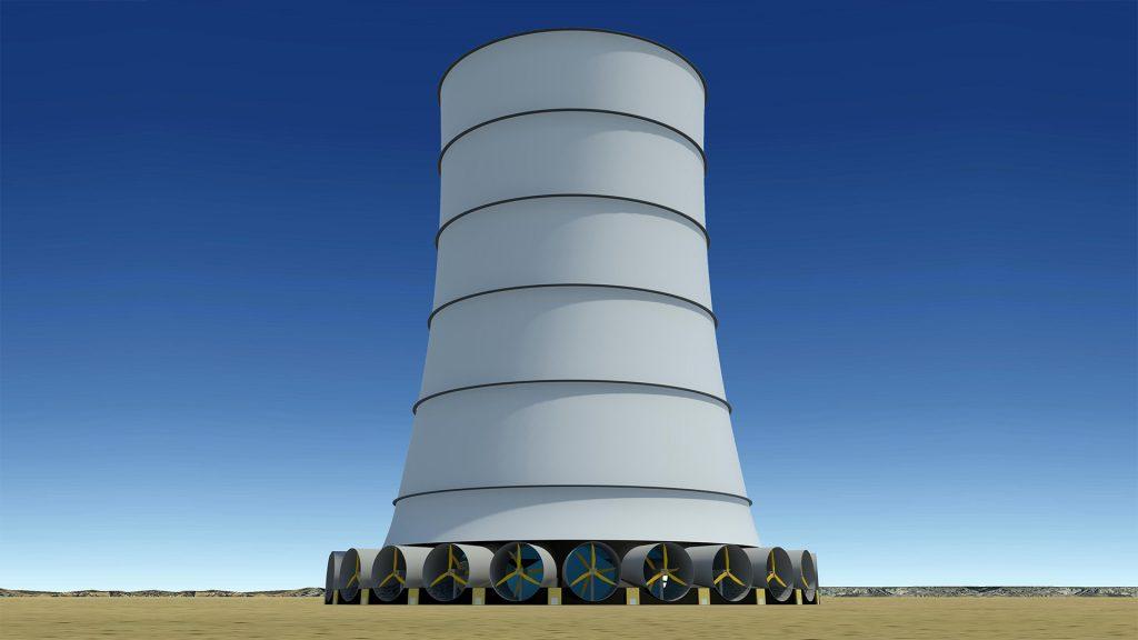 La solar wind energy tower