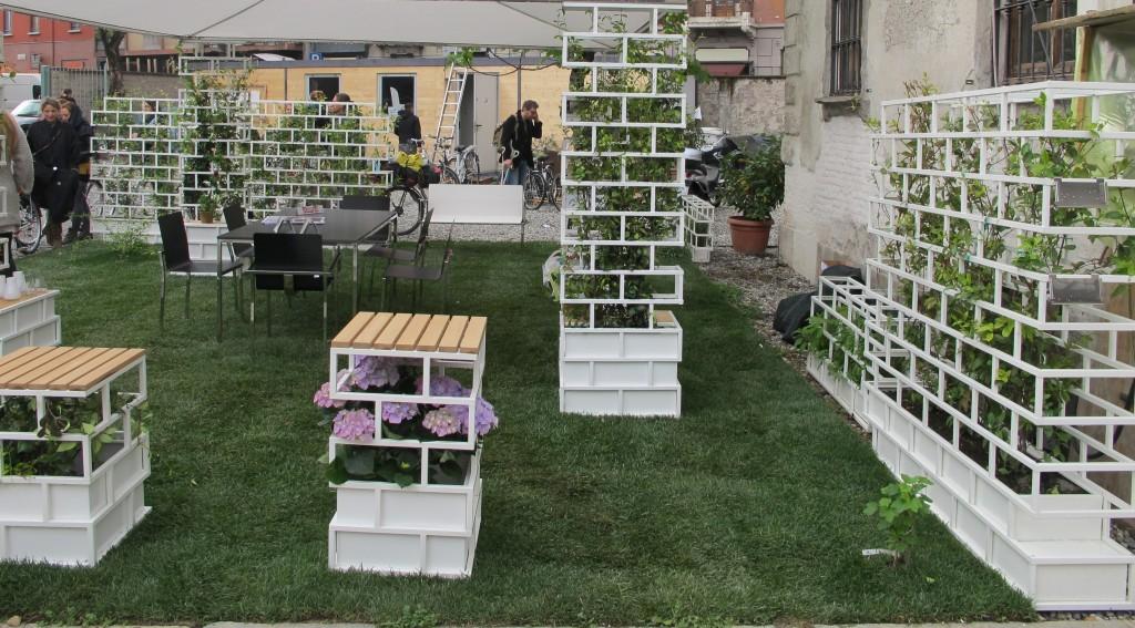 Un'installazione green al Fuori Salone