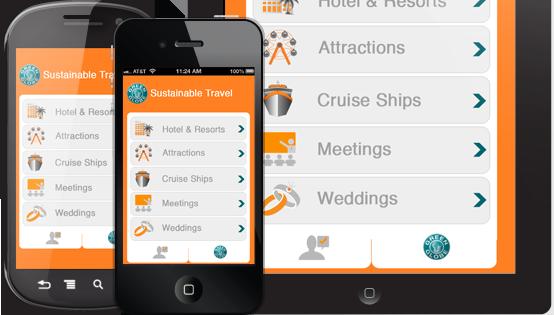 Una schermata della App Green Globe
