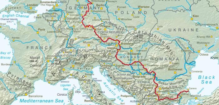Il tracciato della Iron Curtain Trail attraverso l'Europa