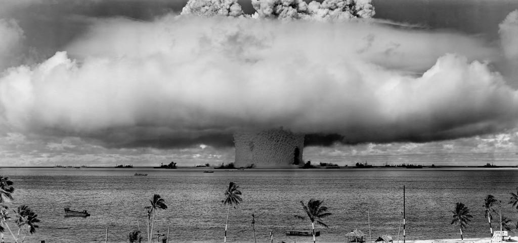 L'esplosione causata da un test nucleare