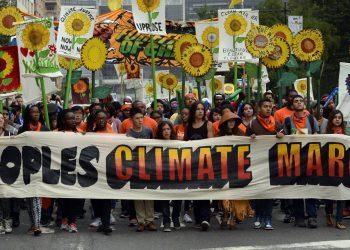 Un'immagine della Climate March