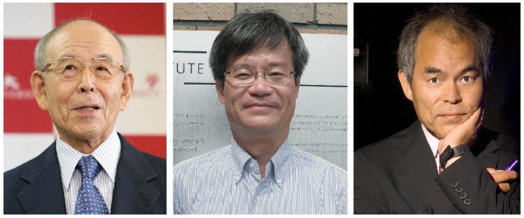 I tre scienziati giapponesi vincitori del premio Nobel 2014 per la Fisica