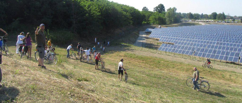 La ex cava di Montechiarugolo trasformata in un parco solare