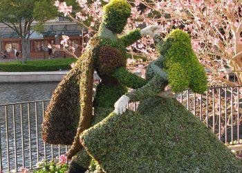 Una delle creazioni presentate al Festival Internazionale dei Giardini