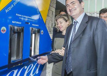 L'assessore ai lavori di pubblici del Comune di Roma Paolo Masini il giorno dell'inaugurazione dell'impianto