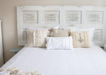 Porte trasformate in testiera per il letto (foto: http://www.gaiff.com/)