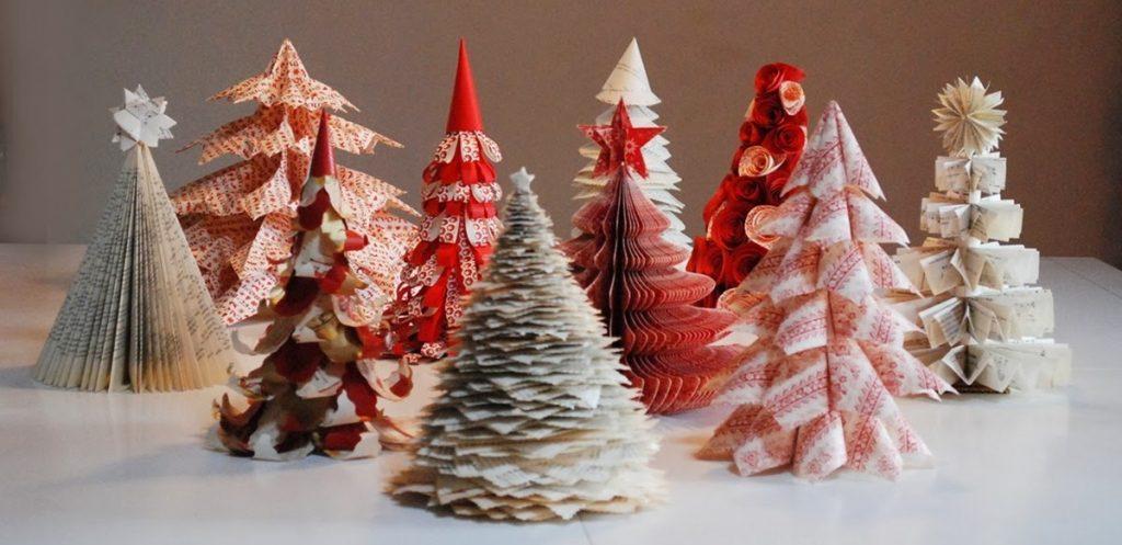 Alberi di Natale realizzati in carta (foto: incartesimi.blogspot.com)