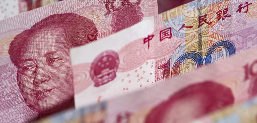Banconote di Yuan (foto: www.bloomberg.com)