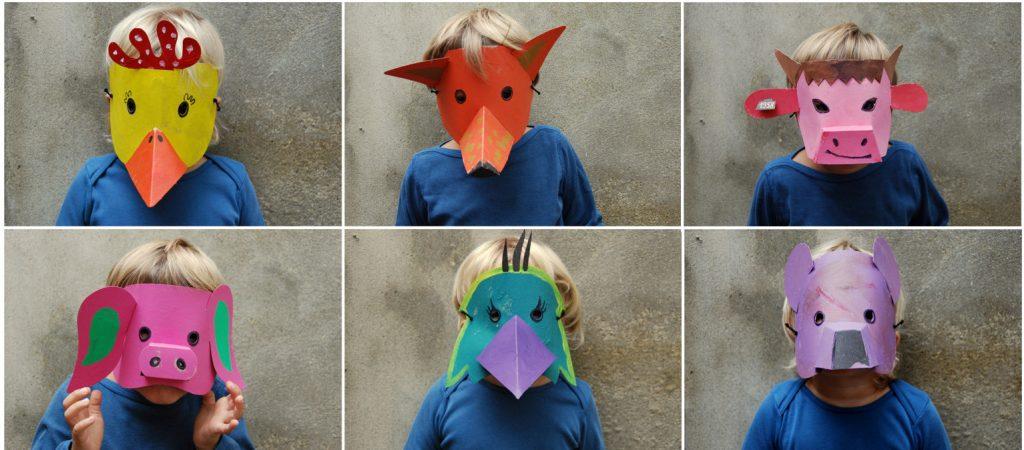 Maschere di carnevale faidate (foto: www.blogmamma.it)