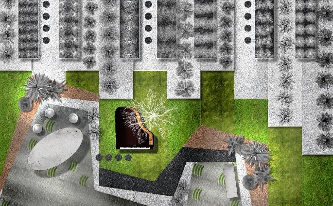 Tastiera floreale degli arch.tti Sara Pezzutti, Enrico Busato ed agronomo Chiara Filippetto con Az.agr. Fortunato Filippetto (PN)