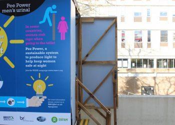 """Il prototipo di toilette chimica con il sistema """"pee power"""" (foto: http://www.theguardian.com/)"""