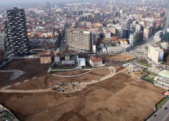 L'area su cui sorgerà il campo di grano (foto: http://www.artribune.com/)