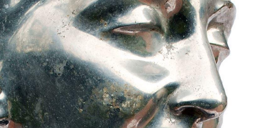 """Dettaglio di un'opera d'arte in alluminio. Foto dal catalogo della mostra """"Alluminio tra futurismo e contemporaneità"""""""