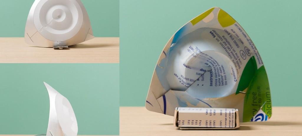 Noctambula, la lampada fatta col cartone del latte (www.fattelo.com)
