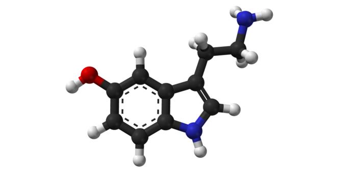 Una molecola di serotonina