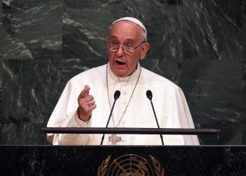 Papa Francesco all'ONU (foto: www.vita.it)