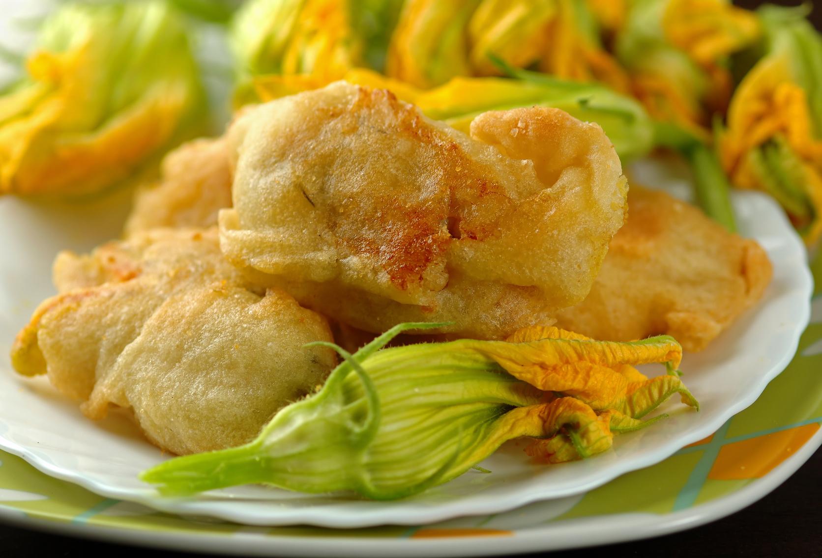 Fiori di zucca o di zucchina due ricette for Antipasti romani