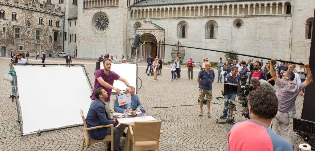 Anna e Yusef - le riprese del film in piazza Duomo a Trento