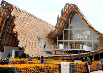 Il padiglione cinese in bambù a Expo 2015