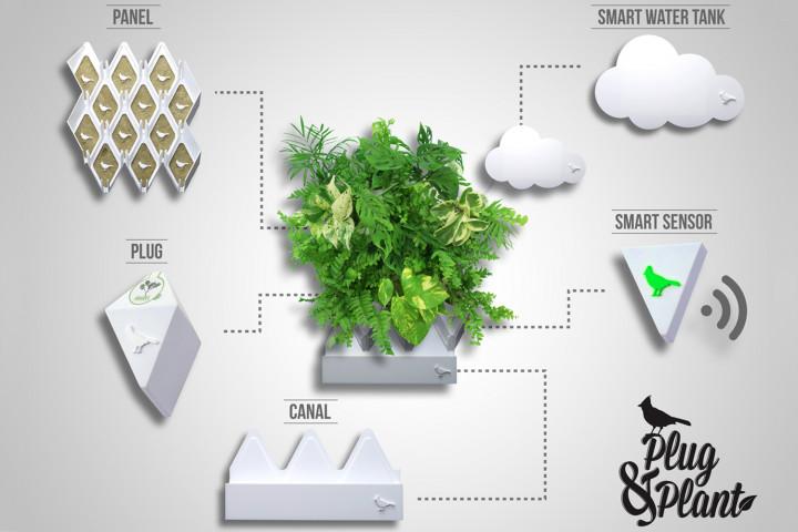 La società messicana Vertical Green lancia Plug & Plant un nuovo sistema che rivoluziona il mondo dell'interior design e dei giardini vertical