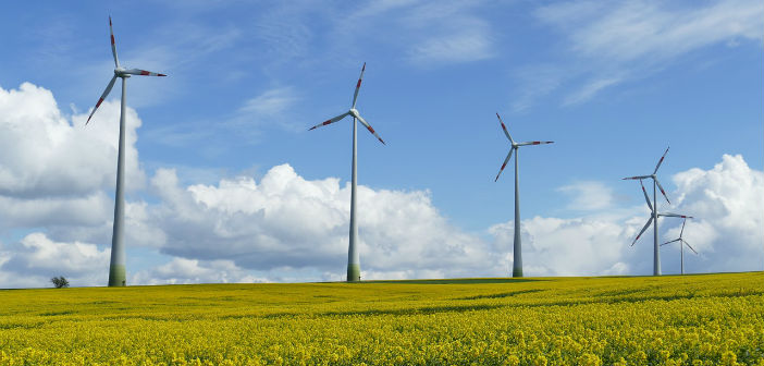 Impianto per la produzione di energia eolica