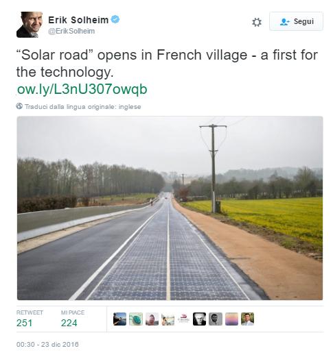 strada solare in Normandia