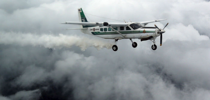 Il cloud seeding con aerei