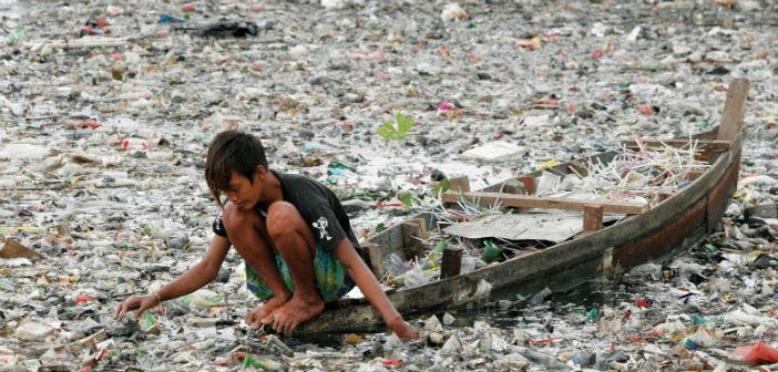 Inquinamento da plastica monouso in India