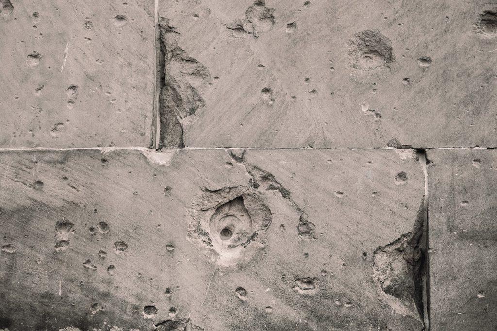 crepe nel cemento