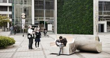 """Una soluzione per l'inquinamento: la panchina """"verde"""" CityTree"""