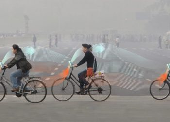 bicicletta mangia smog