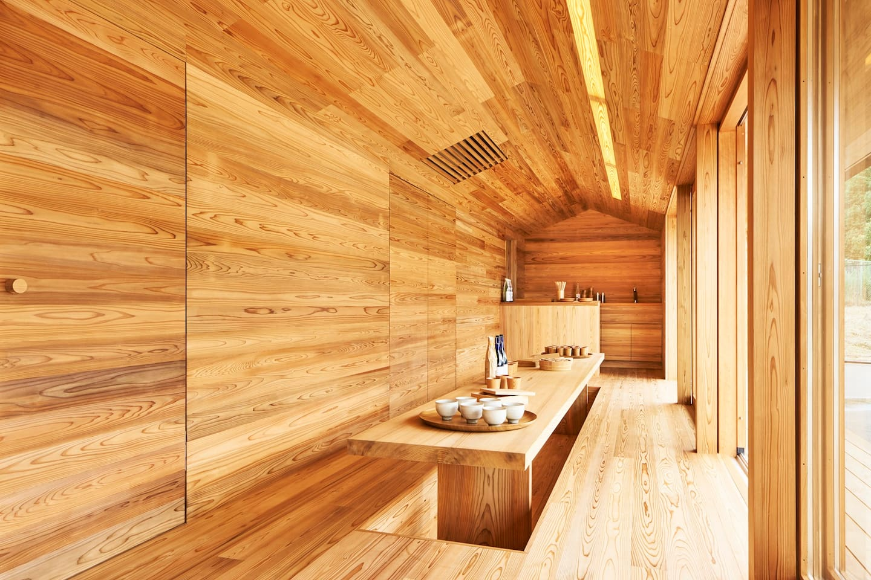la casa in legno di cedro a yoshino in giappone