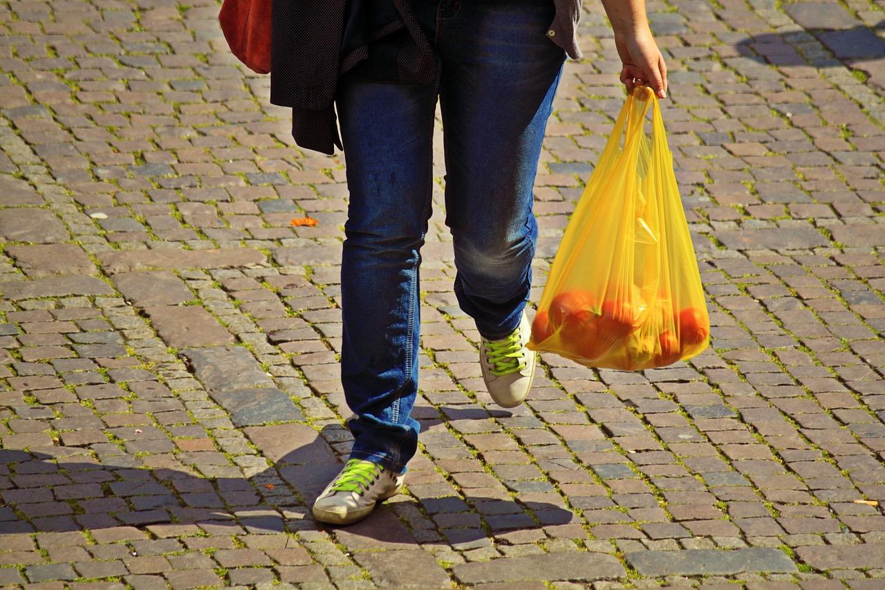 eliminazione delle borse di plastica