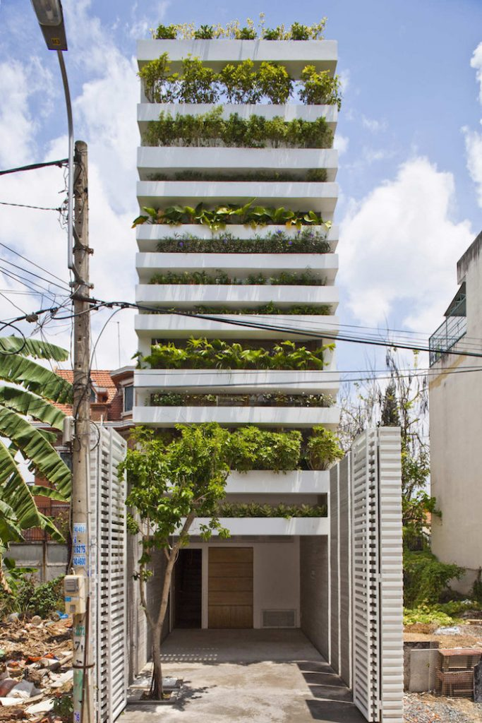 abitazioni con foresta verticale