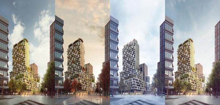 Coabitazione e architettura del verde un bosco verticale for Architettura del verde