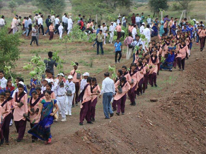 India record di alberi piantati (foto: http://www.mp.gov.in/en)