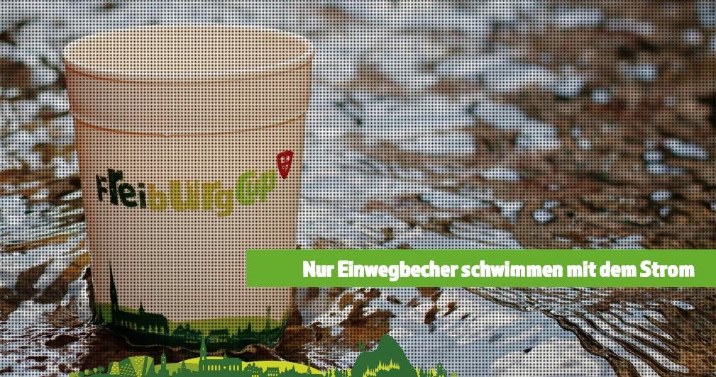 tazza da caffè riciclabile