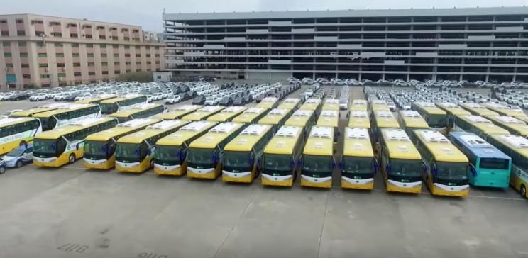 flotta di bus elettrici